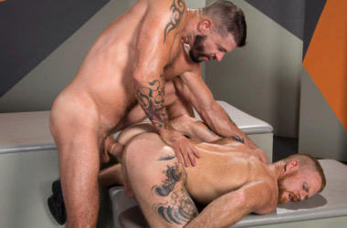"Hung muscle stud Tex Davidson fucks Jack Vidra in ""State of Arousal"" part two"