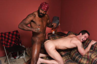 Kasey Jones takes a hard pounding from Philly Mack Attack at Reality Dudes