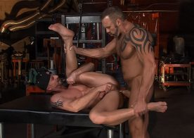 "Mitch Vaughn and Dallas Steele flip-fuck in ""Stopover in Bonds Corner"" part 1 from Titan Men"