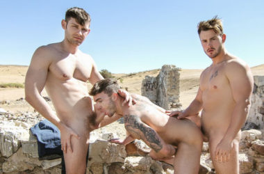 "Trevor Long, Jacob Peterson and Jake Ashford fuck in the desert in ""On The Run"" part two"