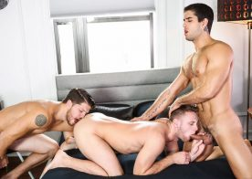"Ashton McKay and Diego Sans fuck Brandon Evans in ""Speed Dating"" from Men.com"