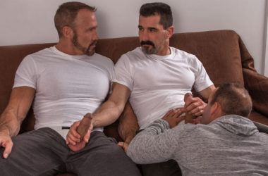 Dallas Steele and Luke Adams get fucked in a hot Titan Men threeway with David Anthony