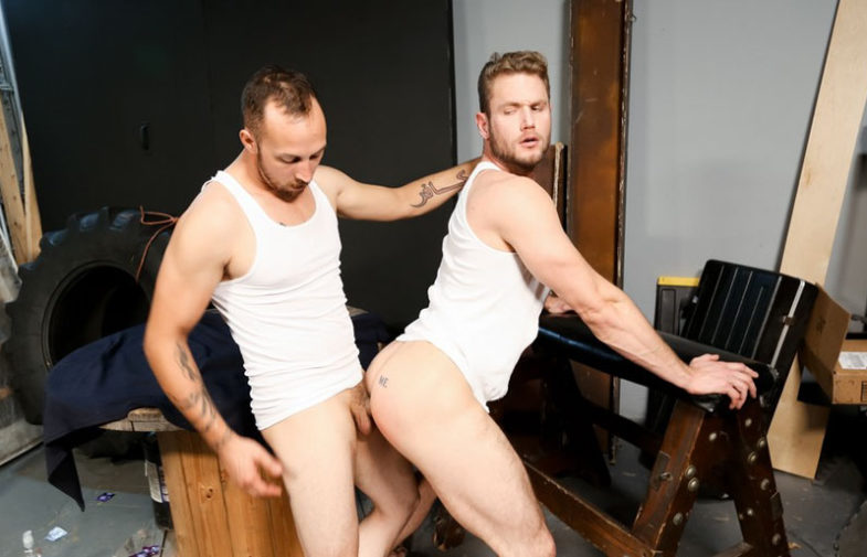"""Dustin Steele fucks Ace Era's hungry ass hole in """"The Playroom"""" from Pride Studios"""