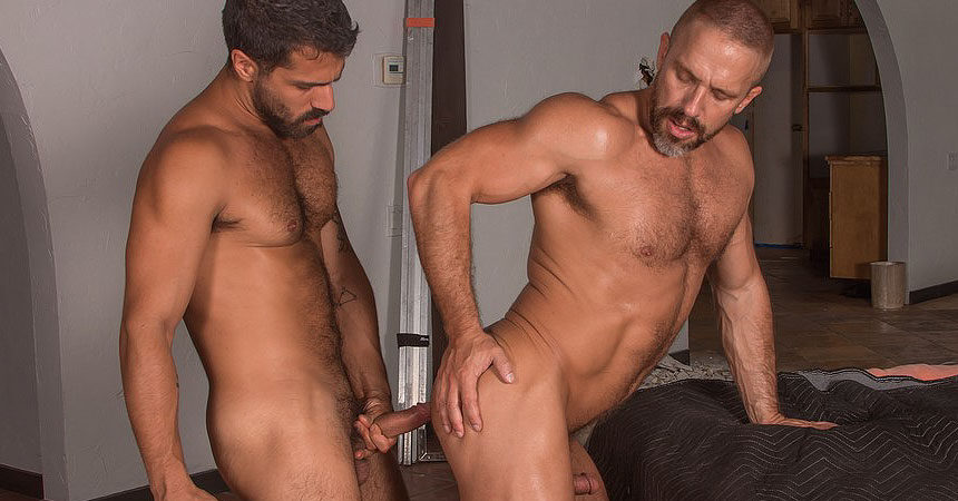 "Adam Ramzi and Dirk Caber flip-fuck in ""Demolition"" part two from Titan Men"