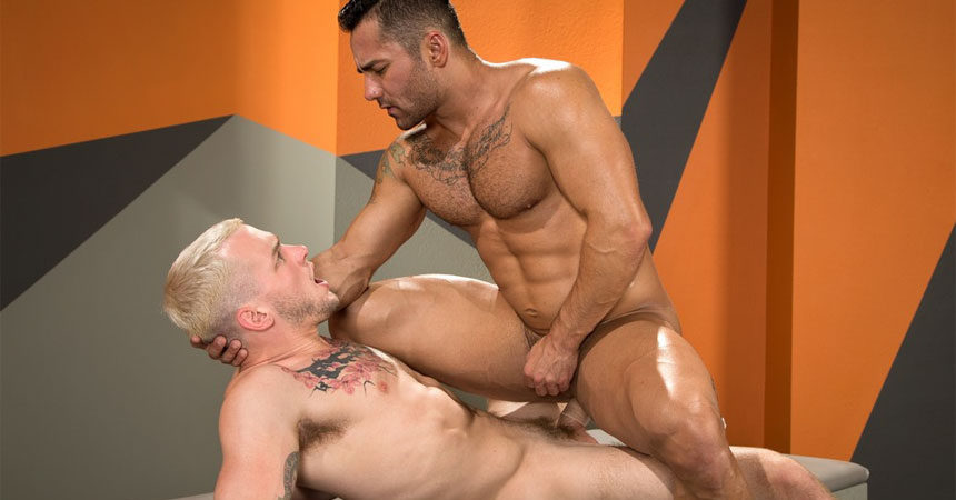 "Colton Grey fucks Bruno Bernal in ""State of Arousal"" part three from Raging Stallion"