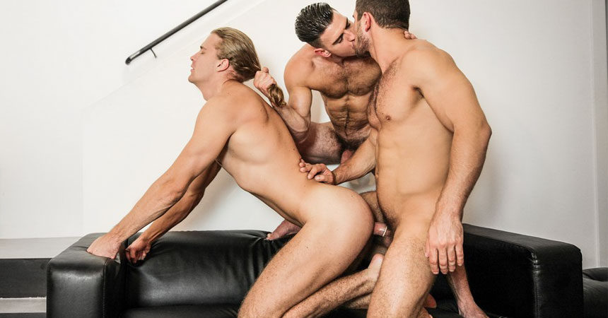 """Dato Foland, Paddy O'Brian and Johan Kane fuck in """"Made You Look"""" part two from Men.com"""