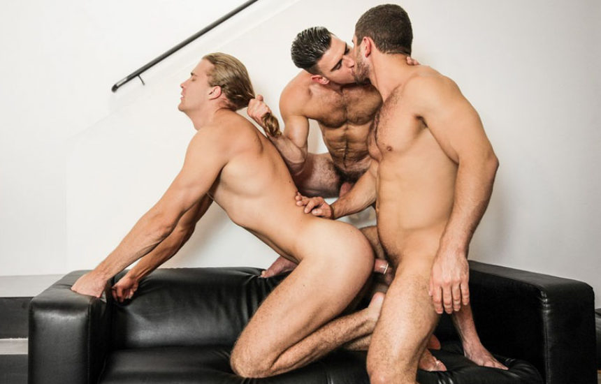 "Dato Foland, Paddy O'Brian and Johan Kane fuck in ""Made You Look"" part two from Men.com"