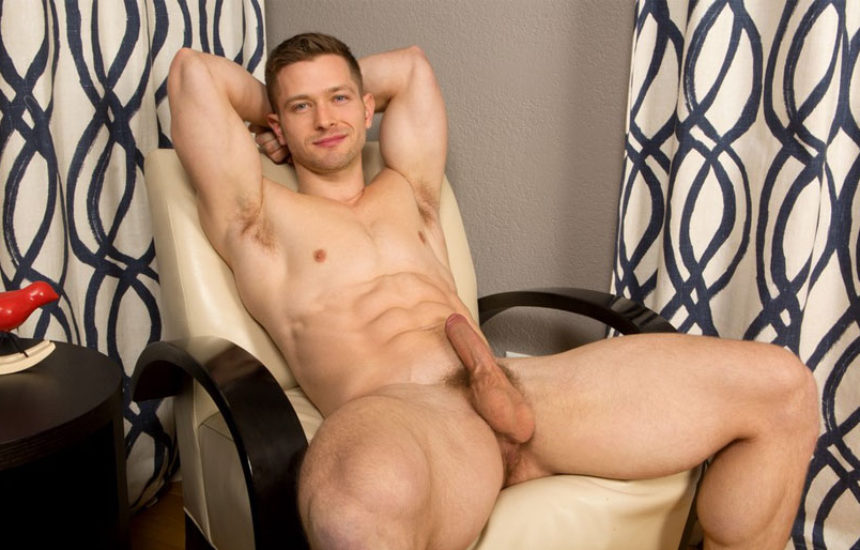 Uncut newcomer Deacon rubs out a big creamy load for Sean Cody