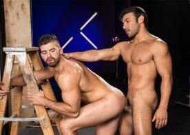 "Dorian Ferro pounds Jonah Fontana in ""Backstage Pass 2"" part four from Raging Stallion"