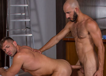 """Bruce Beckham and Eric Nero fuck each other in """"Demolition"""" part one from Titan Men"""