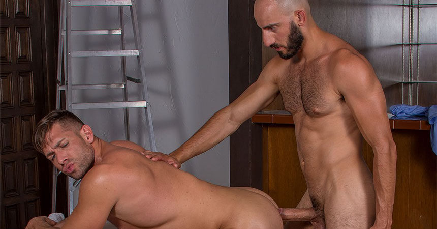 "Bruce Beckham and Eric Nero fuck each other in ""Demolition"" part one from Titan Men"