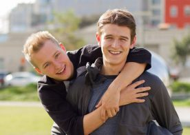 """Evan Parker stuffs Noah White's ass in """"Tackle The Twink"""" from Helix Studios"""