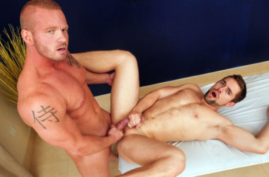 "James Huntsman fucks Griffin Barrows in ""Celebrity Massage"" from Next Door Studios"