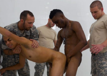 Nasty Sergeant trains his lazy recruits at Troop Candy
