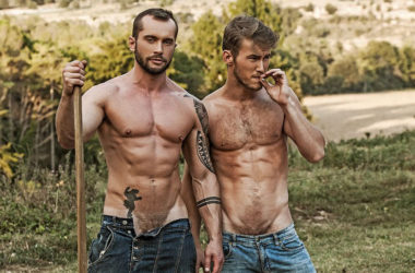 Marq Daniels gets rough with Tyler Berg in this bareback release from Lucas Entertainment