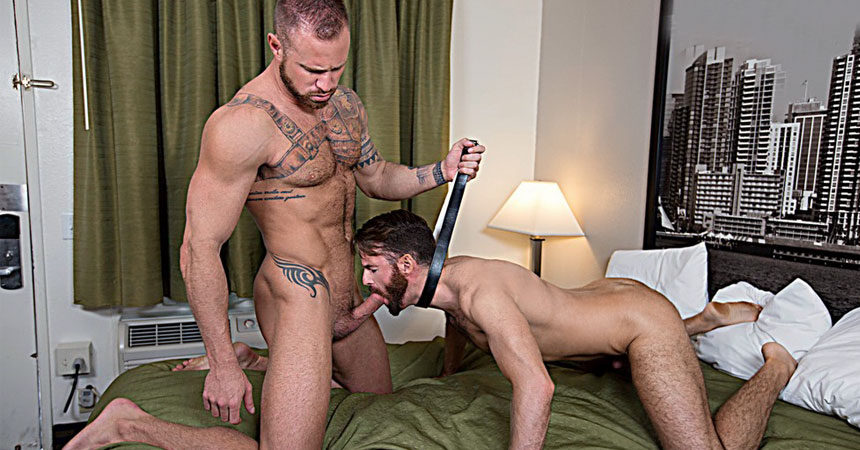 "Michael Roman dominates and raw-fucks Brendan Patrick in ""Raw Spankers"" from Bromo"