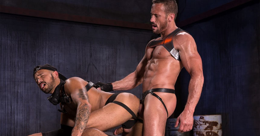 "Talon Reed takes Myles Landon's fat cock in ""Wasteland"" part two from Raging Stallion"