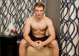 Sexy 20 year old redhead Thom plays with his thick dick at Sean Cody
