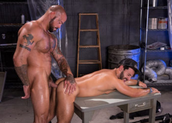 "Sean Duran plows Rafael Lords in ""Wasteland"" part four from Raging Stallion"
