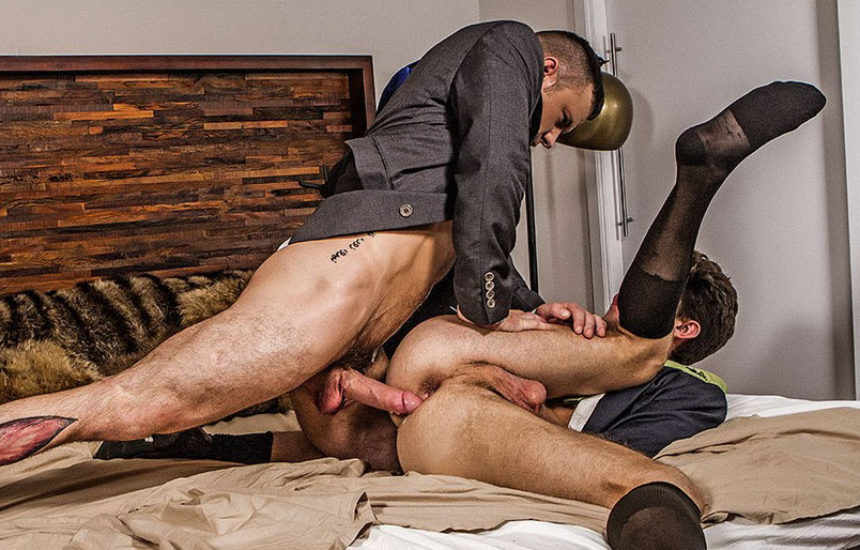 Sergeant Miles and Devin Franco suck and fuck each other at Lucas Entertainment