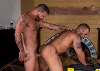 "Lorenzo Flexx takes Tex Davidson's huge cock in ""Demolition"" part 3 from Titan Men"