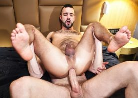 Dano Guerre worships Tim Kruger's feet and huge cock at TimTales