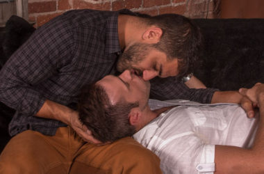"Alex Mecum and Adam Ramzi suck and fuck each other in ""2 Men Kiss"" part two"