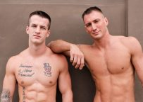 Craig Cameron and Quentin Gainz in a bareback flip-fuck video from Active Duty