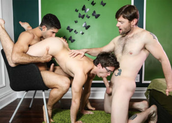 "Diego Sans and Dennis West team up to fuck Will Braun in ""The Book"" part two"