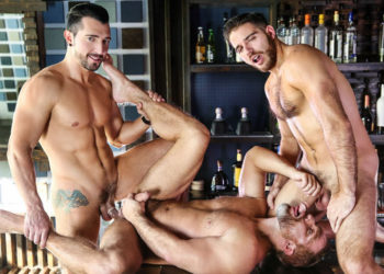 "Jimmy Durano, Jackson Grant and Dirk Caber fuck in ""Heartbreakers"" part two from Men.com"