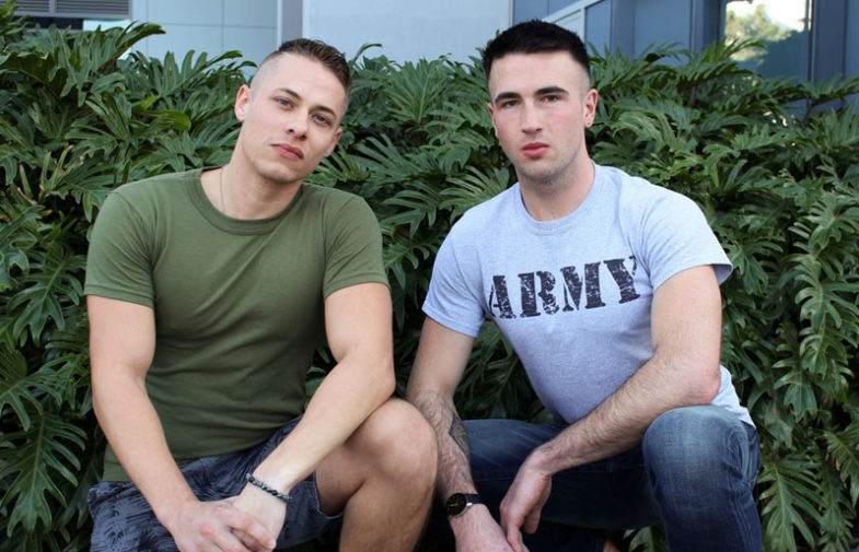 New recruits Jay Ice and Aston Springs suck and fuck at Active Duty