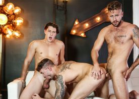 """Jake Ashford, Paul Canon and Wesley Woods fuck in """"Heartbreakers"""" part three from Men.com"""
