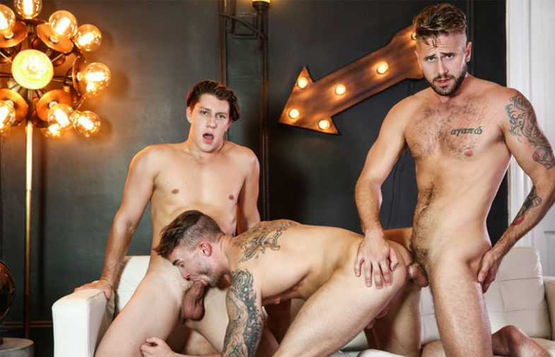 "Jake Ashford, Paul Canon and Wesley Woods fuck in ""Heartbreakers"" part three from Men.com"