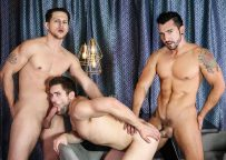 """Jimmy Durano and Roman Todd fuck Griffin Barrows in """"Heartbreakers"""" part one from Men.com"""