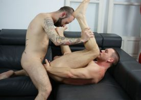 Angel Garcia gives Hans Berlin a hard, raw and deep pounding at Butch Dixon