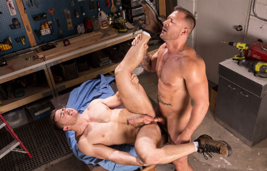 "Austin Wolf fucks Derek Bolt in ""Dirty Work"" part three from Hot House"