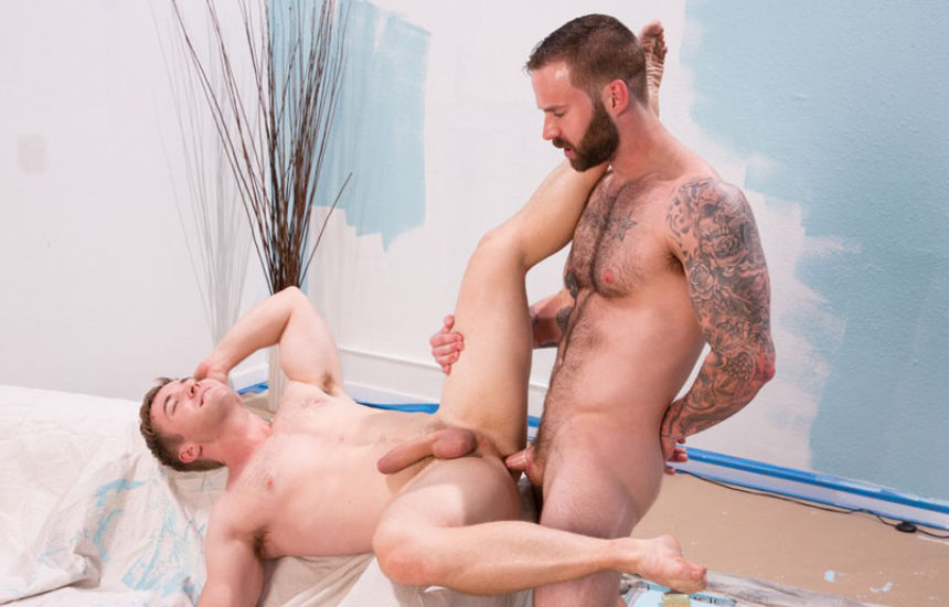 """Chris Bines plows Gabriel Cross' delicious hole in """"Dirty Work"""" part two from Hot house"""