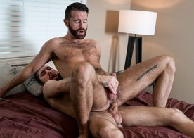 "Jeff Powers barebacks Brendan Patrick in ""Breeding My Bossy Otter"" from Bromo"