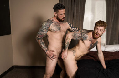 """Bennett Anthony rides Jordan Levine's raw cock in """"Inked Breeding"""" from Bromo.com"""