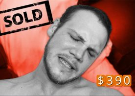 Straight guy Levi sells his virgin ass for less than $400 at Reality Dudes