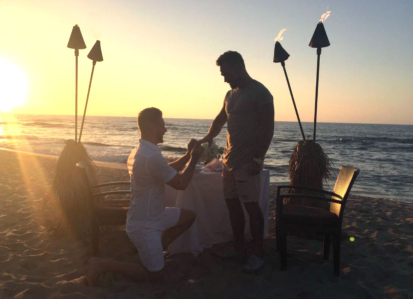 Josh Moore and Logan Moore getting engaged