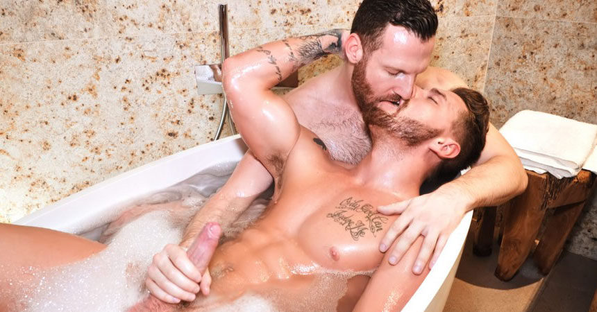 Josh Moore takes Tim Kruger's massive dick at TimTales