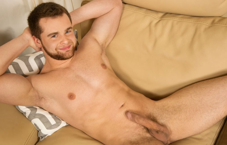 Newcomer Tracey gets naked and jerks off for Sean Cody