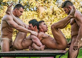 Andrey Vic and James Castle fuck Ricky Verez and Klim Gromov in a raw foursome