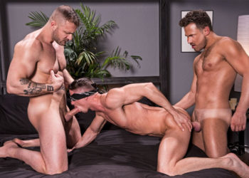 "Austin Wolf and Logan Moore fuck Skyy Knox in ""Blindfolded"" part one from Hot House"
