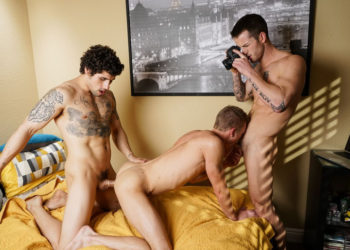 "Jimmy Clay, Quentin Gainz and Ty Thomas fuck in ""Straight Chexxx"" part four"