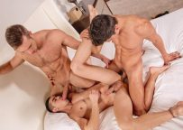 """Alex Mecum, Zander Cole and Alessandro Haddad fuck in """"Property Lovers"""" part four"""