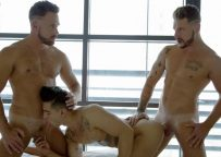 Ricky Roman joins porn couple Logan and Josh Moore at CockyBoys