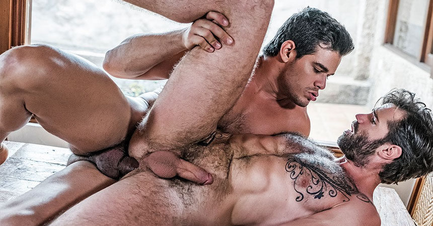 Dani Robles takes Rico Marlon's huge raw cock at Lucas Entertainment