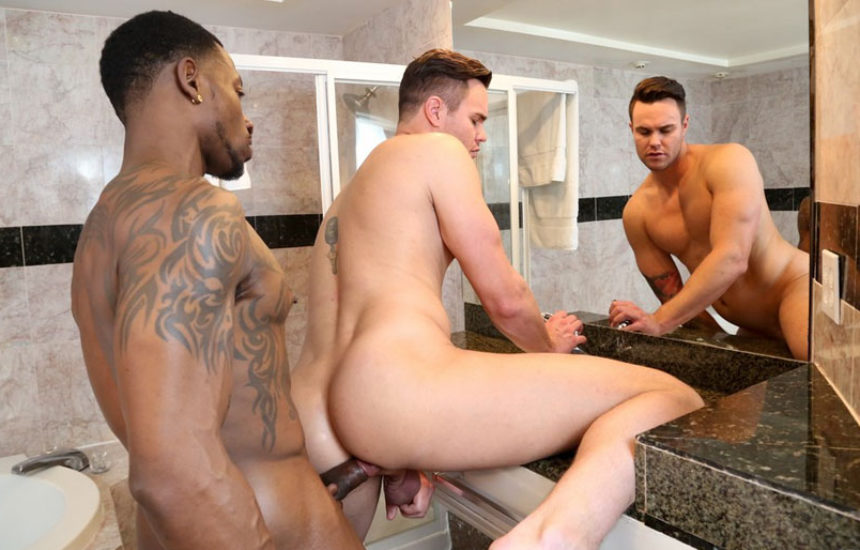 Inked stud Rio B stuffs Beau Reed's hole with his meaty cock at Next Door Studios